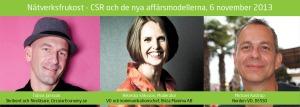 Nätverksfrukost - CSR och de nya affärsmodellerna. 6 november 2013